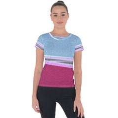 Cracked Tile Short Sleeve Sports Top