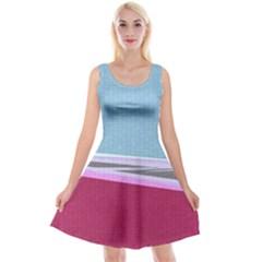 Cracked Tile Reversible Velvet Sleeveless Dress
