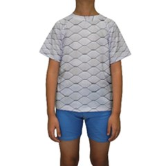 Roof Texture Kids  Short Sleeve Swimwear