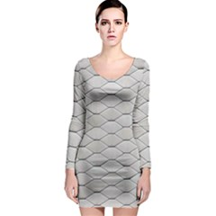 Roof Texture Long Sleeve Bodycon Dress