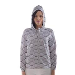 Roof Texture Hooded Wind Breaker (Women)