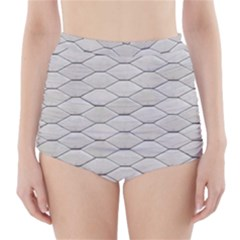Roof Texture High-Waisted Bikini Bottoms