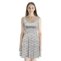 Roof Texture Split Back Mini Dress