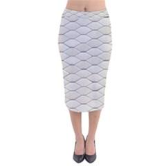 Roof Texture Velvet Midi Pencil Skirt