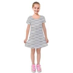 Roof Texture Kids  Short Sleeve Velvet Dress