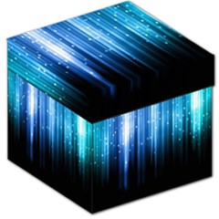 Blue Abstract Vectical Lines Storage Stool 12