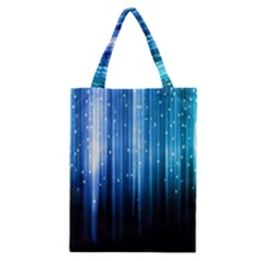 Blue Abstract Vectical Lines Classic Tote Bag