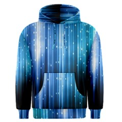 Blue Abstract Vectical Lines Men s Pullover Hoodie