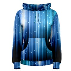Blue Abstract Vectical Lines Women s Pullover Hoodie