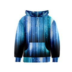 Blue Abstract Vectical Lines Kids  Zipper Hoodie