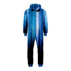 Blue Abstract Vectical Lines Hooded Jumpsuit (kids)