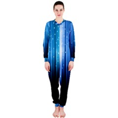 Blue Abstract Vectical Lines OnePiece Jumpsuit (Ladies)