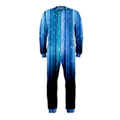 Blue Abstract Vectical Lines OnePiece Jumpsuit (Kids)