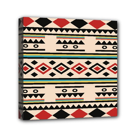 Tribal Pattern Mini Canvas 6  x 6