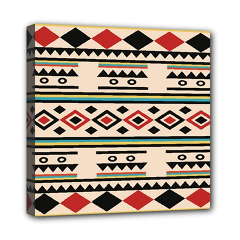 Tribal Pattern Mini Canvas 8  x 8