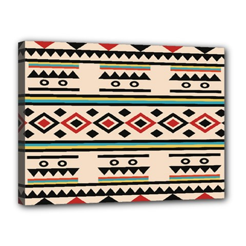 Tribal Pattern Canvas 16  x 12