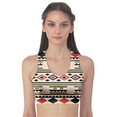 Tribal Pattern Sports Bra