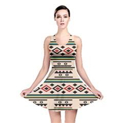 Tribal Pattern Reversible Skater Dress