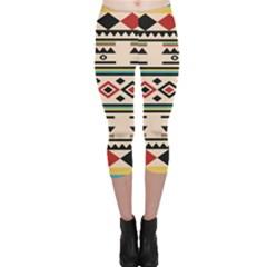 Tribal Pattern Capri Leggings
