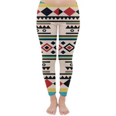 Tribal Pattern Classic Winter Leggings