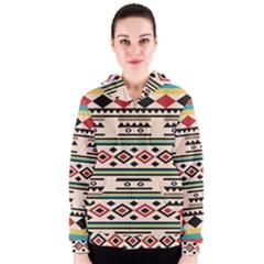 Tribal Pattern Women s Zipper Hoodie