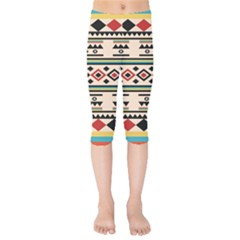 Tribal Pattern Kids  Capri Leggings