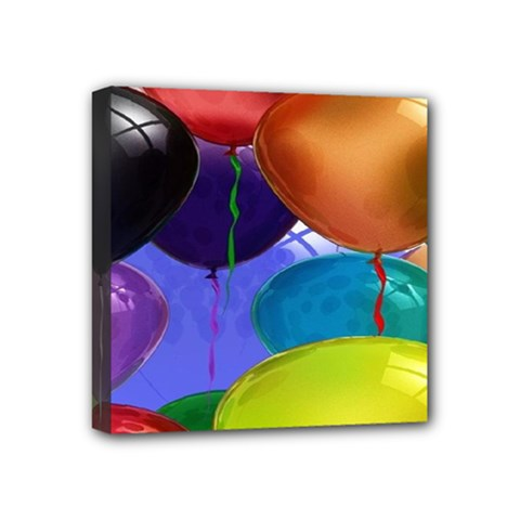 Colorful Balloons Render Mini Canvas 4  x 4
