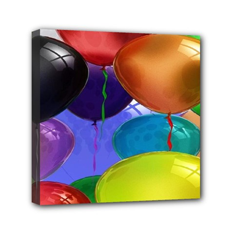 Colorful Balloons Render Mini Canvas 6  X 6