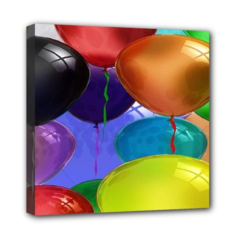 Colorful Balloons Render Mini Canvas 8  X 8