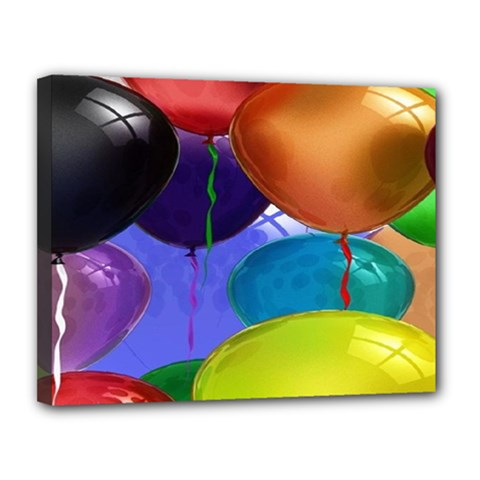 Colorful Balloons Render Canvas 14  X 11