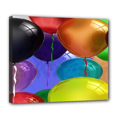 Colorful Balloons Render Deluxe Canvas 24  X 20