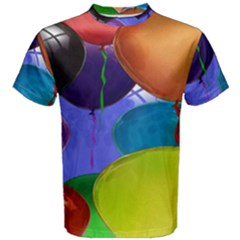 Colorful Balloons Render Men s Cotton Tee
