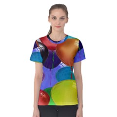 Colorful Balloons Render Women s Cotton Tee