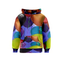 Colorful Balloons Render Kids  Zipper Hoodie