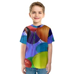Colorful Balloons Render Kids  Sport Mesh Tee