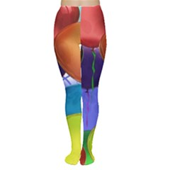 Colorful Balloons Render Women s Tights
