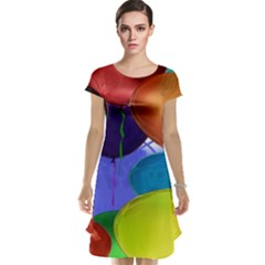 Colorful Balloons Render Cap Sleeve Nightdress