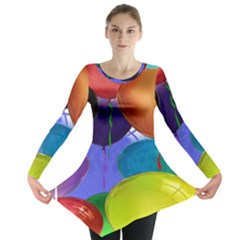 Colorful Balloons Render Long Sleeve Tunic