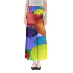 Colorful Balloons Render Full Length Maxi Skirt