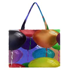 Colorful Balloons Render Medium Zipper Tote Bag