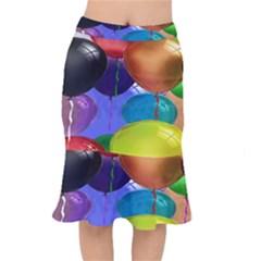 Colorful Balloons Render Mermaid Skirt