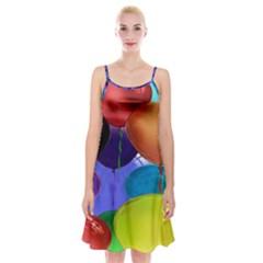 Colorful Balloons Render Spaghetti Strap Velvet Dress