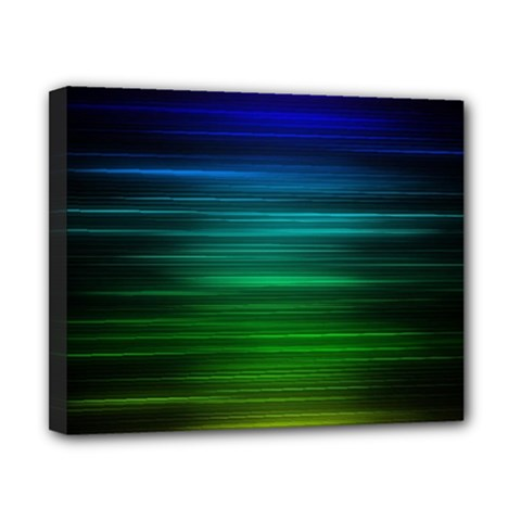 Blue And Green Lines Canvas 10  x 8