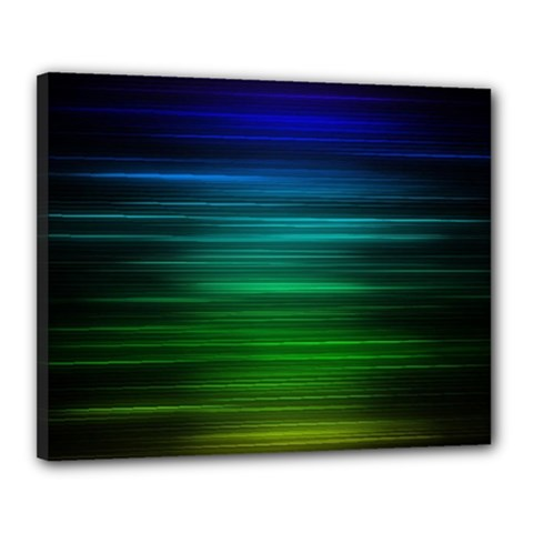 Blue And Green Lines Canvas 20  X 16