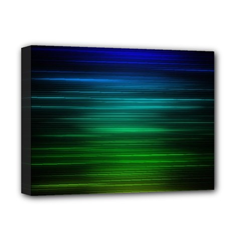 Blue And Green Lines Deluxe Canvas 16  x 12