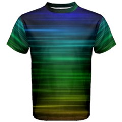 Blue And Green Lines Men s Cotton Tee