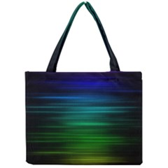 Blue And Green Lines Mini Tote Bag