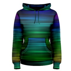 Blue And Green Lines Women s Pullover Hoodie