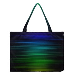 Blue And Green Lines Medium Tote Bag