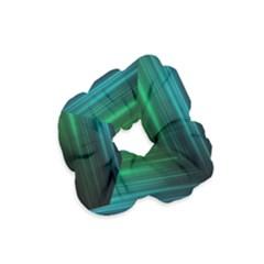 Blue And Green Lines Velvet Scrunchie